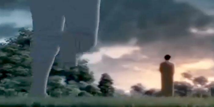 Tên cướp cố gắng ra sức chạy nhưng chẳng thể nào đuổi kịp Đức Phật.